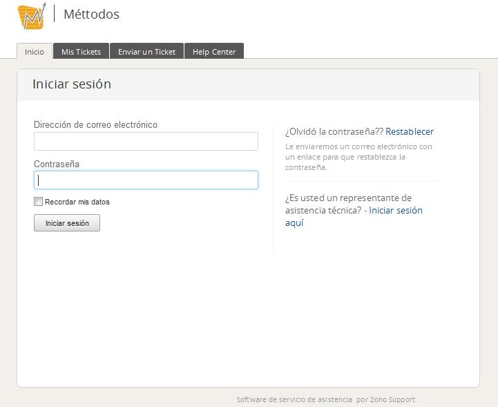 Nuevo servicio de soporte mediante portal WEB